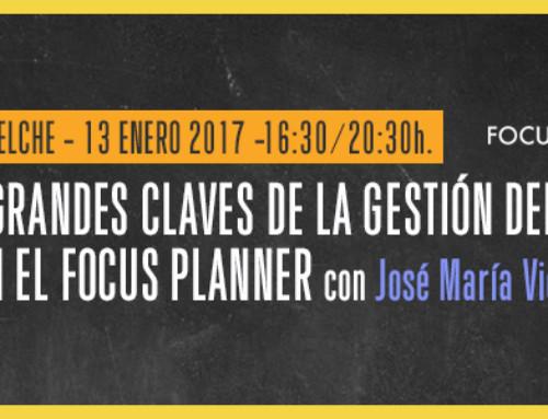 """Crea un 2017 extraordinario con el curso """"Grandes claves de la gestión del tiempo con Focus Planner"""""""
